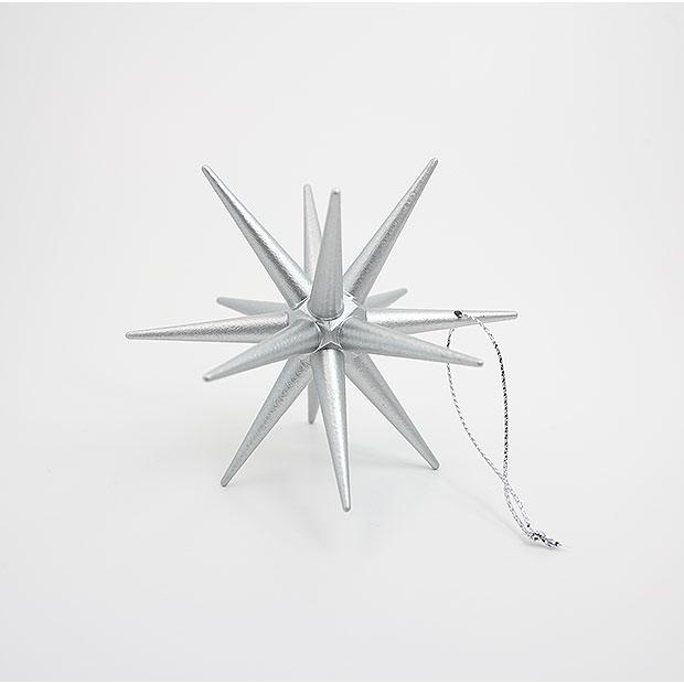 [ピ][M1個入ベ]シルバー 銀 サイズ(中) Mサイズ 1個 クリスマスの星 ベツレヘムの星に思いを馳せて 精巧な作り&木製 ぬくもりオーナメント ハンドメイド 北欧 ベーシック おしゃれ クリスマスオーナメント