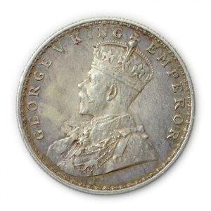 英領インド帝国 1920年 ジョージ5世 1ルピー銀貨 MGD-COIN-010