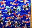 <キャラクター生地・布>ウルトラマンX(紺)【キャラクター】【生地】【布】【キャラクター生地】【入園】【入学】