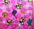 <キャラクター生地・布>ぞうのエルマー(ピンク)#8【キャラクター】【生地】【布】【キャラクター生地】