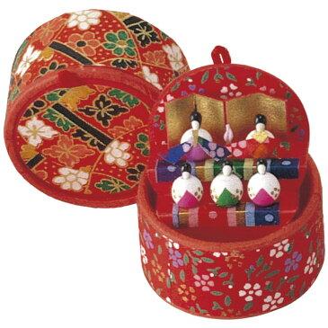 雛人形(ひな人形) 起き上がり雛二段手作り和紙細工 収納小箱雛 かわいい マンションサイズ コンパクト リュウコドウ ひなまつり 桃の節供 お雛様