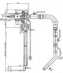 ドラム缶用防爆型エアプレッシャ式ポンプAPD−20G(ガソリン用)