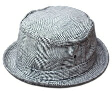 New York Hat(ニューヨークハット)ポークパイハット<br /> #3058 PLAID LIN…