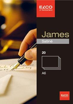 【メール便対応】【ELCO(エルコ)】JamesSatine カード A6 20枚入(71716-10)【文具/オフィス事務用品/ステーショナリー/ポストカード/はがき/グリーディングカード】