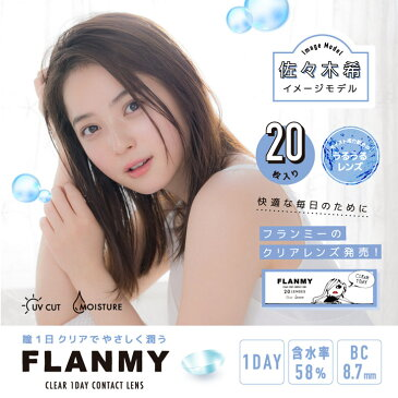 FLANMY CLEAR 1DAY フランミー クリアワンデー(1箱20枚入り)【送料無料】(クリアレンズ ソフトコンタクトレンズ ワンデー クリアコンタクト 使い捨て コンタクトレンズ )