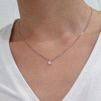プラチナ一粒ダイヤモンドネックレス 0.70ct Dカラー SI2 トリプルエクセレントカット GIA鑑定書付き