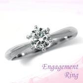 婚約指輪 プラチナ ダイヤモンドエンゲージリング 0.62ct Fカラー SI2 トリプルエクセレントカット GIA鑑定