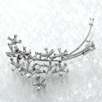 K18WGダイヤモンド入りブローチダイヤモンド1.25ct