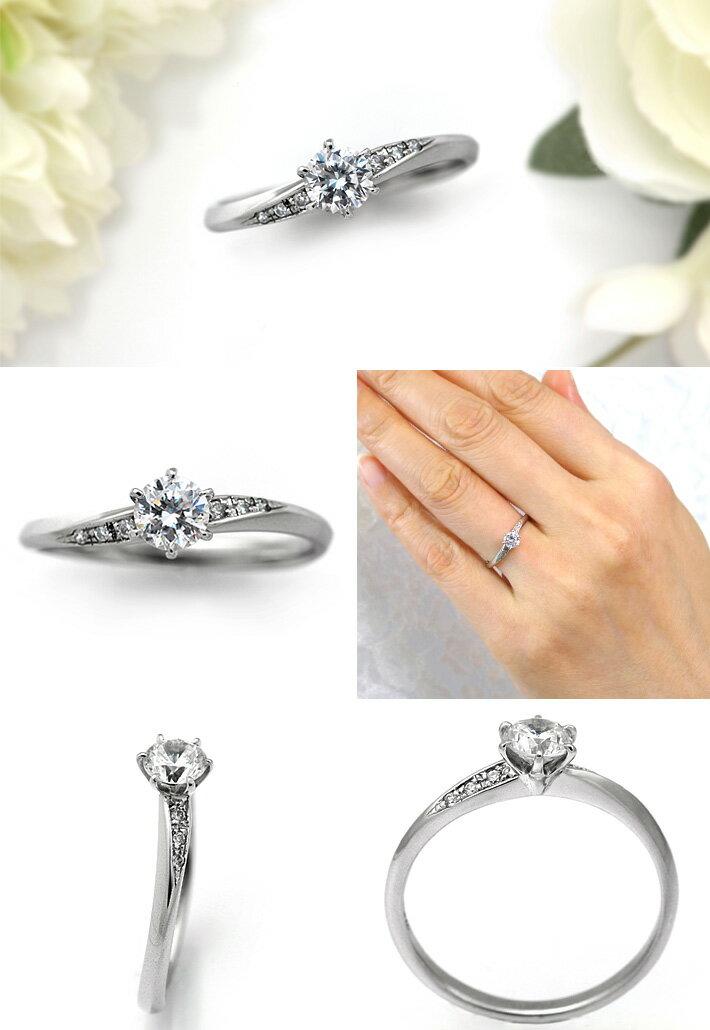 婚約指輪 プラチナ ダイヤモンドエンゲージリング 0.40ctUP Dカラー VS2 トリプルエクセレントカット GIA鑑定