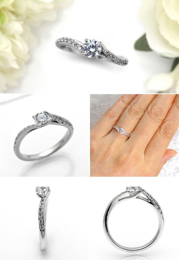 婚約指輪 プラチナ ダイヤモンドエンゲージリング 0.40ctUP Dカラー VVS2 トリプルエクセレントカット GIA鑑定