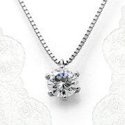 ダイヤモンドネックレスプラチナ稀少最高級品質FL(フローレス)GIA鑑定書付き0.57ct