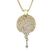 ダイヤモンドネックレス,ダイヤモンド,K18,ゴールド,イエローゴールド,ネックレス