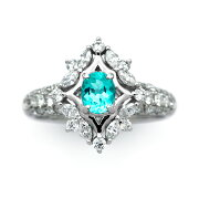 パライバトルマリンリング,パライバトルマリン,トルマリン,ダイヤモンド,Pt900,プラチナ,指輪,ファッションリング