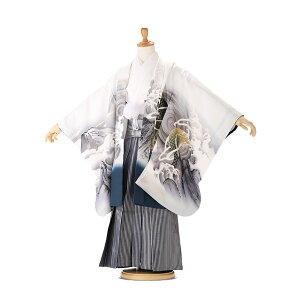 [Rental] [Fuji] [Shichigosan Boys Kimono Set 5 years old] [Shichigosan 5 Costume Rental] [Shichigosan 5 Years Hakama Rental] 753 Kimono | Tabi Present | 110cm-120cm 3 nights 4 days round trip free shipping Hakuryu x Fuji js5355