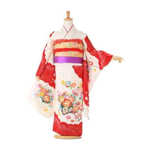 [Shichigosan Kimono 7-year-old full set] Silk [Shichigosan Costume Rental] [Shichigosan 7-year-old Kimono Silk] [Japan Made] [Hand-painted Yuzen] [Kinkoma embroidery] [Kimono rental 7 years old] Children's girls' kimono 753 Shichigo-san bag obi free shipping white [2018] jk7294