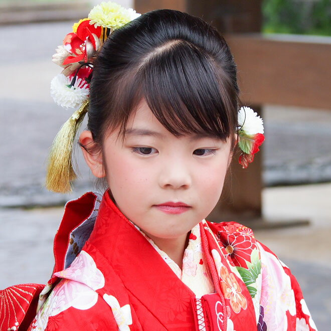【レンタル】【七五三 髪飾りレンタル】7歳 髪飾り 2059