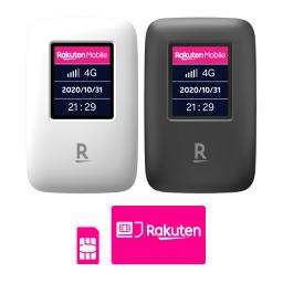 【はじめての楽天回線お申し込みで5000ポイント対象商品】Rakuten WiFi Pocket + 楽天回線プラン(Rakuten UN-LIMIT VI)セット   simフリー Wi-Fiルータ モバイルルータ 本体 新品 端末 楽天モバイル対応