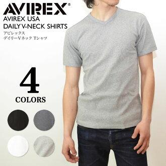 AVIREX daily V-neck short sleeves T-shirt inner mens shirt fs2gm