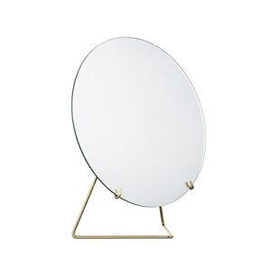 ムーべミラー20.0cm/MOEBEMIRROEBLACKBRASS/【鏡】【シンプル】【オシャレ】【卓上ミラー】【卓上鏡】【北欧インテリア】