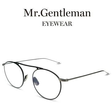 Mr.Gentleman ミスタージェントルマン BASQUIAT E Matte Black Silver メンズ レディース メイドインジャパン 度付きメガネ 伊達メガネ 日本製 本格眼鏡 (お取り寄せ)