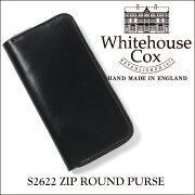 ポイント ホワイトハウス コックス ジップラウンドウォレット ブライドルレザー ブラック Whitehouse