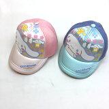【メール便送料無料】シナモロールキャップベースボールキャップ子供用キッズベビー帽子48cm50cmメッシュブルーピンク
