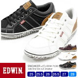 【送料無料】EDWIN/エドウィン メンズ カジュアルローカットスニーカー 7138 25.0/25.5/26.0/26.5/27.0/28.0/シューズ/スニーカー/靴/2019春夏/新作