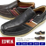 【送料無料】EDWIN メンズ ビンテージローカットスニーカー スリッポン 7327 25.0/25.5/26.0/26.5/27.0/シューズ/メンズ スニーカー/靴/