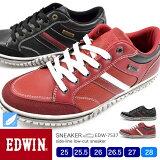 【送料無料】EDWIN メンズ スニーカー 軽量 ローカット 7537 25.0/25.5/26.0/26.5/27.0/28.0/シューズ/メンズ スニーカー/靴/