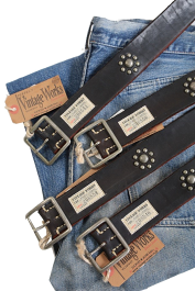 【送料無料】VintageWorks(ヴィンテージワークス)〜LEATHERSTUDSBELTCUSTOMCHASIN(DH5697)〜