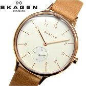スカーゲン/SKAGEN レディース 時計【SKW2405】ピンクゴールド×ライトブラウンレザーあす楽対応/新品、本物、当店在庫だから安心