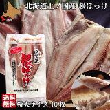 ほっけ 北海道 開き 特大サイズ 10尾 魚 生冷凍 通販 国産 上ノ国 根ほっけ ホッケ 脂 肉厚 干物ではなく生を急速冷凍 送料無料