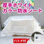 【サイズ、種類豊富】厚手ホワイトカラー防水シート約1.7x1.7m(1間x1間)(#3000ブルーシートのナチュラルカラー)白色
