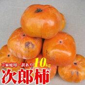 ご予約訳ありご家庭用次郎柿10kgキズ割れ大小不揃いバラ詰めかきカキ