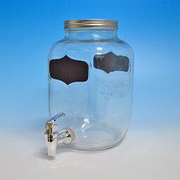 硝子サーバーボトル CD119061 ドリンクディスペンサー ホルダー ドリンクサーバー ガラス 鉄 アンティーク カフェ バー 冷水 給水器 ウォーターサーバー