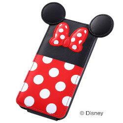 【iPhone5 ケース】iPhone5cディズニー・ダイカット・レザー(フラップ)/ミニー(RT-DP6B/MN)【受注発注】