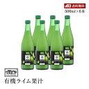 【送料無料】Casa Rinaldi カーサ リナルディ 生搾り有機ライムストレート100%果汁 500ml 6本セット 有機JAS認証 国際規格HACCP認証