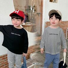 キッズロゴシャツトップス男の子女の子ユニセックス双子おそろい姉妹発表会誕生日会8090100110120130cmブラックグレーホワイト