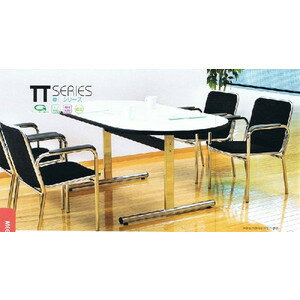 会議・打ち合わせに会議用テーブル・会議机TT-2105R(天板:楕円型)W2100XD1050XH700