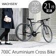 WBC-7003 WACHSEN 700Cアルミクロスバイク 21段変速 DUNKEL Phase2 おしゃれ ストリート 自転車 街乗り メンズ レディース