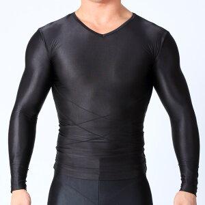 コンプレッションシャツ高加圧裏メッシュスパルタックスMサイズコンプレッションメンズインナーウェア長袖半袖加圧シャツ加圧インナー補正下着猫背姿勢補正ぽっこりお腹スポーツウェアサポートサポーター防寒ジムVネック