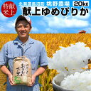 食紀行で買える「おいしいお米 令和元年産 お米 ゆめぴりか 20kg(5kg×4袋)精米白米 皇室献上米 北海道産 特A 2019 農家直送 桃野農場【送料無料】」の画像です。価格は16,200円になります。