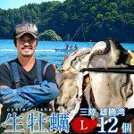 生牡蠣殻付きL12個生食用生ガキ宮城県産漁師直送格安生かきお取り寄せバーベキュー