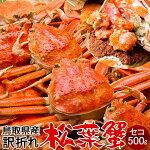 かに松葉ガニ訳ありセコガニ[メスB大]500g松葉蟹ボイルゆでがに鳥取県産せこ蟹セイコ蟹足折れマツバガニ日本海ズワイガニ