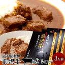 前沢牛 ビーフカレー 3食分 レトルト 奥州岩手県産 食のふるさと お祝い 産地