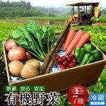 日本の有機野菜セット旬のおまかせ7種類全国ご当地生産者のこだわり有機栽培