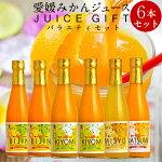 みかん愛媛みかんジュース[6本入]バラエティギフトセット4種類100%ストレート果汁国産オレンジジュース