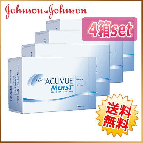 ◆◆【送料無料】ワンデーアキュビュー モイスト 90枚 4箱(30枚×12箱)ジョンソンエンドジョンソン johnson acvue moist【1day】【メーカー直送】【代引不可】