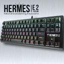 【送料込】ゲーミングキーボード ネオンバックライト 7色 青軸 有線 91キー日本語配列 Hermes E2 Mechanical Keyboard メカニカルキーボード【新品】S【FR】