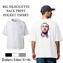 Tシャツ メンズ レディース 半袖 ビッグシルエット 大きいサイズ ポケット 無地 Mac Miller マックミラー ポケット Uネック クルーネック プリントTシャツ